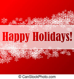 Happy holidays - Abstract illustration of a christmas...