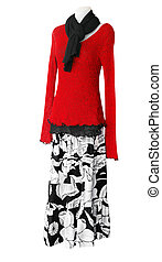 Female Mannequin with Red Cardigan