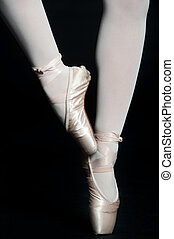 Ballerina Legs - A pair of slender ballerina legs on tip toe...