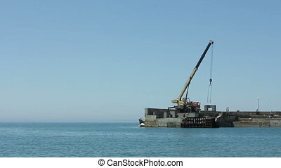 Building site on the sea