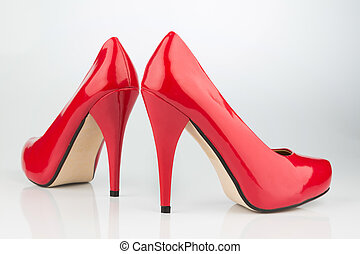 red high heels, symbolic photo for fashion, elegance and...