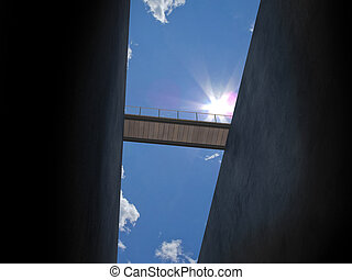 bridge from below - you can see the rescue but wont reach it...