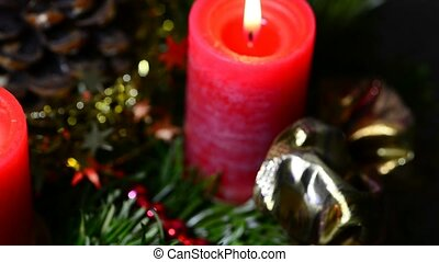 Advent wreath - advent wreath on turn table