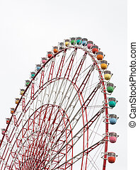 Ferris wheel - colorful ferris wheel on a white background