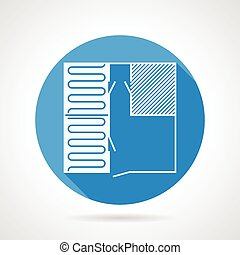 Heated floor flat vector icon - Single blue flat vector icon...