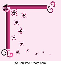 Ornamental frame, vector illustration