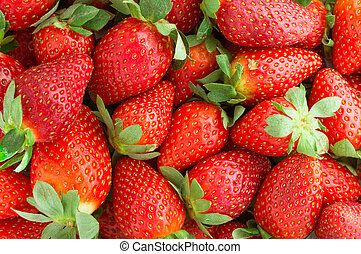 Red Strawberry Fruit on White Background