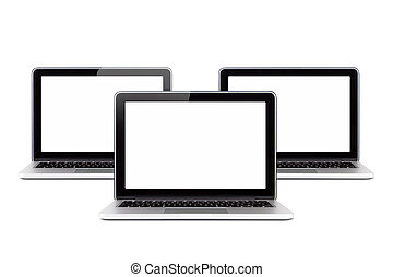 Laptops for Multi Functionality - Front view of three...