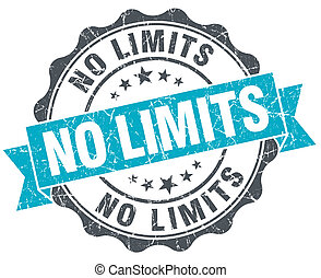 no limits vintage turquoise seal isolated on white
