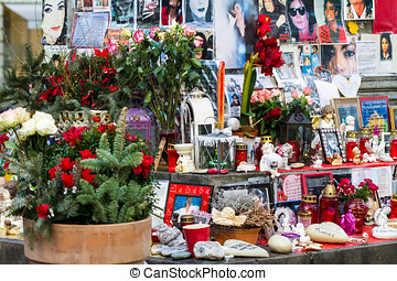 Michael Jackson altar in Munich - An altar dedicated to...
