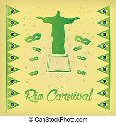 carnival - a colored background with a silhouette of christ,...