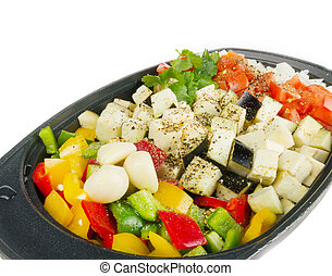 Fresh vegetables mix ready be cooked - Fresh vegetables mix...
