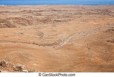 Northern Fuerteventura, view from Bayuyo volcano towards...