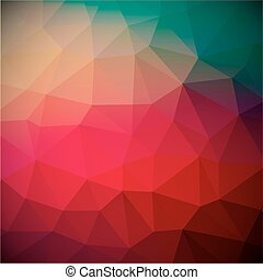 Abstract Vector Retro Red Triangle Background