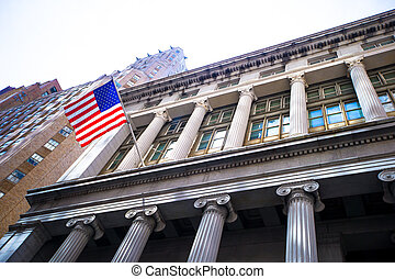 New York Stock Exchange in Manhattan Finance district - Wall...