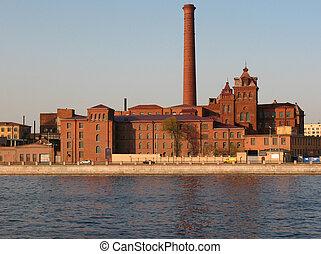 Old redbrick factory building