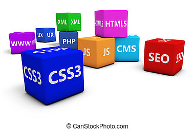 Web Design - Web design, Internet and SEO concept with...