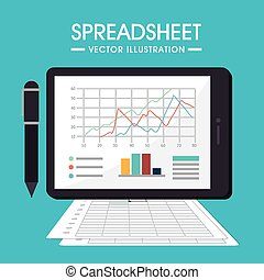 Spreadsheet design, vector illustration