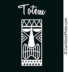 hawaii totem design, vector illustration eps10 graphic