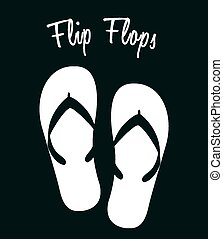 flip flops design, vector illustration eps10 graphic