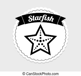 starfish icon design, vector illustration eps10 graphic