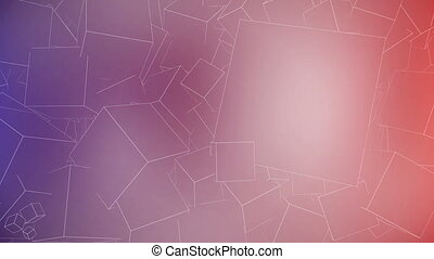 Outline Cubes Background with space for text. Seamless loop.