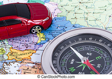 Travel Concept with Compass