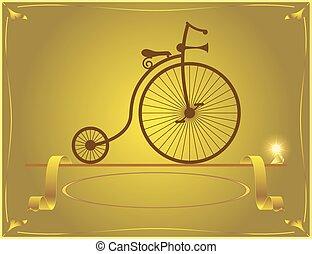 velocipede my great-grandfath - Retro velocipede stands...