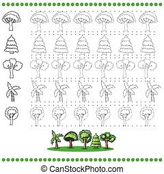 Connect the dots number of images - exercise for kids -...