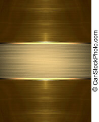 Abstract golden texture with gold plate inscription. Design...