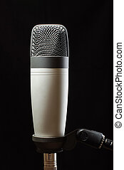 Studio condenser microphone isolate - Stereo music and audio...