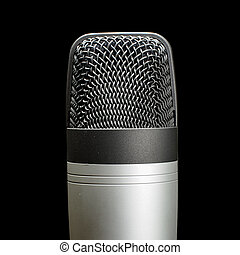 Record studio condenser microphone - Stereo music and audio...