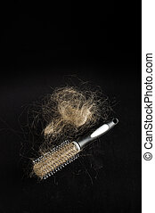 Alopecia concept hairbrush full of - Hair brush full of...
