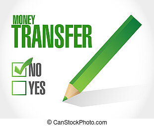 no money transfer check mark illustration design over a...