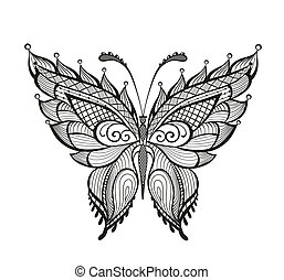 Ornamented abstract butterfly - Abstract decorative...