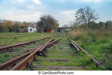 Two lines of railway track - The separation of the two old...
