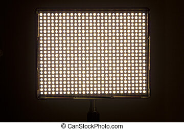 LED video light with variable color temperature.