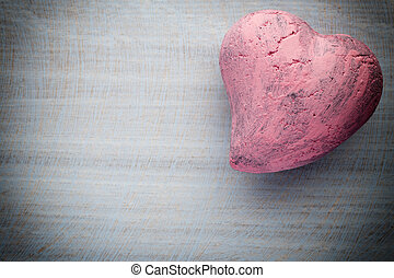 Hearts. - Heart on the wooden background valentine day...