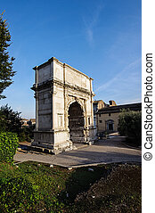 Arco di Tito ( Arch of Titus ) in R - Historical buildings...