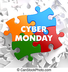 Cyber Monday on Multicolor Puzzle - Cyber Monday on...