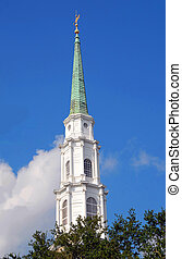 Church Steeple Historic Savannah Georgia