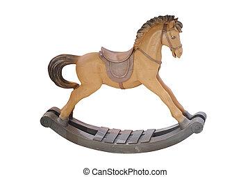 decorative rocking horse isolated under the white background