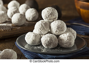 Homemade Sugary Donut Holes on a Background
