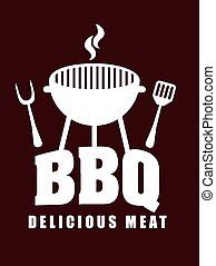 barbecue restaurant design, vector illustration eps10...