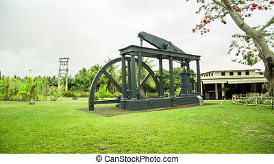 traditional mill at sugar factory - traditional mill at rum...