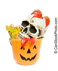 Halloween scary skull - Celebrating Halloween with scary...