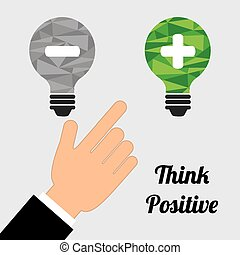 think positive design, vector illustration eps10 graphic