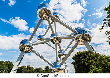 Atomium structure in Brussels - Atomium structure in summer...