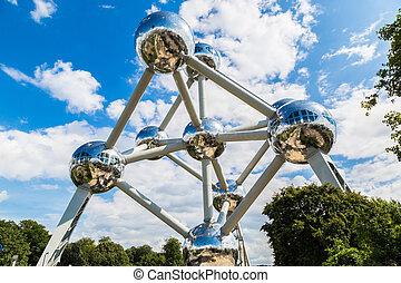 Atomium structure in Brussels - Atomium structure in summer...