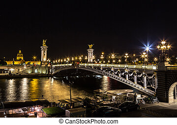 Bridge of the Alexandre III in Paris - Bridge of the...